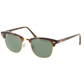 Ray-Ban RB3016 CLUBMASTER 51mm Tortoise Green Classic G-15 Sunglasses