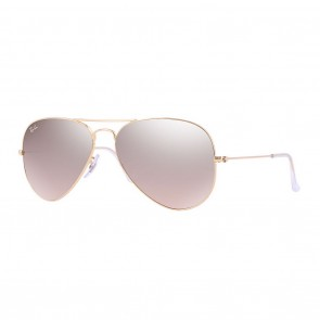 Ray-Ban AVIATOR GRADIENT 55mm Sunglasses in Gold w/ Silver, Pink Mirror