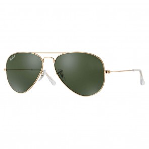 Ray-Ban RB3025 AVIATOR LARGE 62mm Metal Gold  Green Classic Polarized Sunglasses
