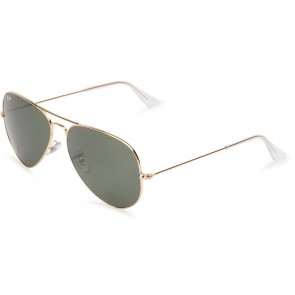 Ray-Ban AVIATOR CLASSIC 62mm Sunglasses in Gold w/ Green