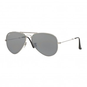 Ray-Ban AVIATOR FOLDING 62mm Sunglasses in Silver w/ Silver Mirror