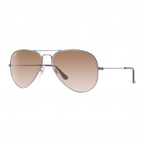 Ray-Ban AVIATOR GRADIENT 58mm Sunglasses in Gunmetal w/ Light Brown Gradient