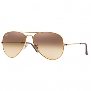 Ray-Ban RB3025 AVIATOR LARGE 58mm Bronze-Copper Pink - Brown Gradient Sunglasses