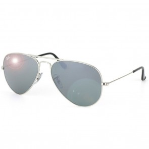 Ray-Ban RB3025 AVIATOR Sunglasses - Silver Grey Mirror