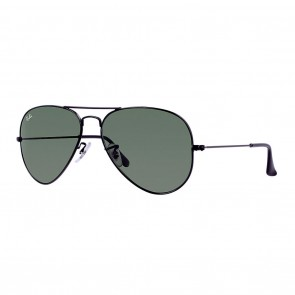 Ray-Ban RB3026 AVIATOR Large Metal 2 62mm Sunglasses in Black w/ Green Classic G-15