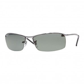 Ray-Ban RB3183 63mm Sunglasses in Gunmetal w/ Polarized Green Classic G-15