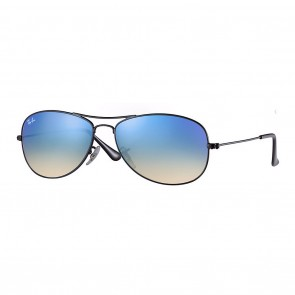 Ray-Ban RB3362 COCKPIT 59mm Black w/ Blue Gradient Flash Sunglasses