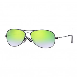 Ray-Ban RB3362 COCKPIT 59mm Black w/ Green Gradient Flash Sunglasses