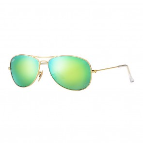Rayban RB3362 COCKPIT 59mm Gold Green Flash Sunglasses