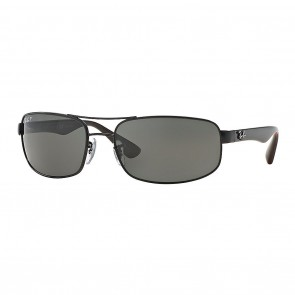 Ray-Ban RB3445 64mm Sunglasses in Black w/ Polarized Grey Classic