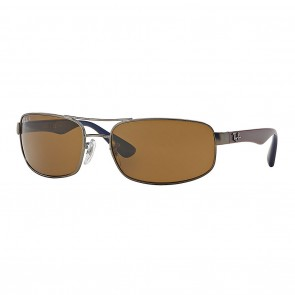 Ray-Ban RB3445 61mm Sunglasses in Gunmetal, Bordeaux w/ Polarized Brown Classic B-15