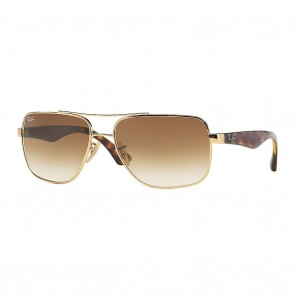 Ray-Ban RB3483 60mm Sunglasses in Gold, Tortoise w/ Light Brown Gradient