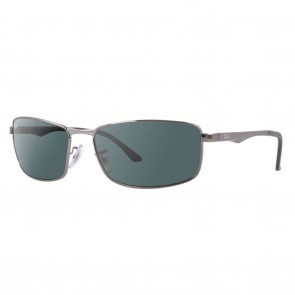 Ray-Ban RB3498 METAL MAN 64mm Gunmetal Green Classic Sunglasses