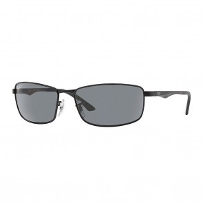 Rayban RB3498 METAL MAN 64mm Matte Black Polarized Grey Gradient Sunglasses