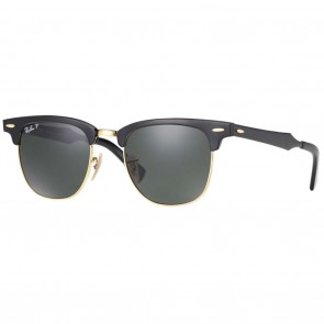 Ray-Ban RB3507 CLUBMASTER Aluminum 51mm Black Polarized Green Classic G-15 Sunglasses