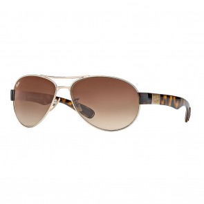 Ray-Ban RB3509 63mm Gold Tortoise Brown Gradient Sunglasses