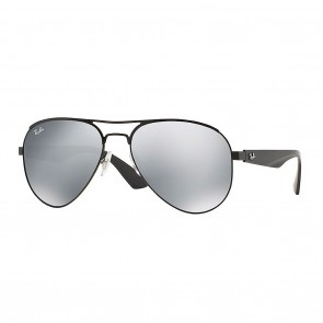 Rayban RB3523 METAL MAN 59mm Matte Black Grey Mirror Sunglasses
