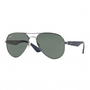 Rayban RB3523 METAL MAN 59mm Gunmetal Green Classic Sunglasses