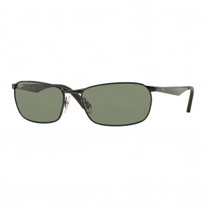 Ray-Ban RB3534 METAL MAN 59mm Black w/ Green Classic G-15 Sunglasses