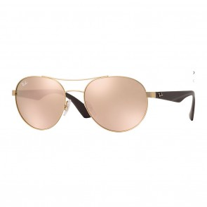 Ray-Ban RB3536 55mm Gold Brown w/ Copper Mirror Sunglasses