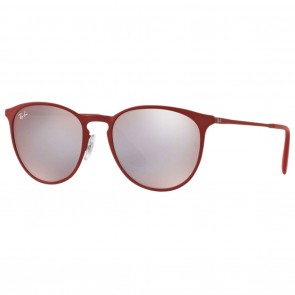 Ray-Ban RB3539 ERIKA METAL Sunglasses - Bordeaux Pink Silver Mirror