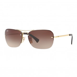 Ray-Ban RB3541 61mm Gold w/ Brown Gradient Sunglasses