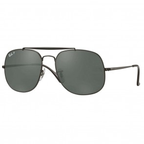 Ray-Ban GENERAL 57mm Black Polarized Green Classic G-15 Sunglasses