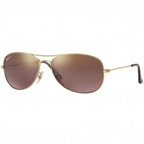 Ray-Ban RB3562 CHROMANCE 59mm Gold Polarized Purple Mirror Chromance Sunglasses