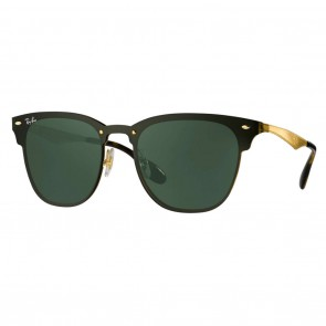 Ray-Ban RB3576N BLAZE CLUBMASTER 47mm Brushed Gold Green Classic Sunglasses