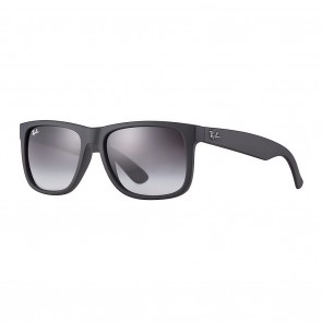 Ray-Ban RB4165 JUSTIN 51mm Black Rubber Grey Gradient Sunglasses
