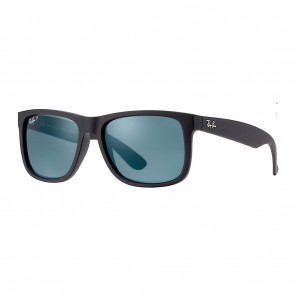 Ray-Ban RB4165 JUSTIN 55mm Sunglasses in Black w/ Polarized Blue Classic