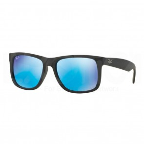Ray-Ban RB4165 JUSTIN 55mm Sunglasses in Black w/ Blue Mirror