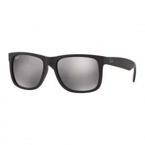 Ray-Ban RB4165 JUSTIN 55mm Sunglasses in Black w/ Grey Mirror