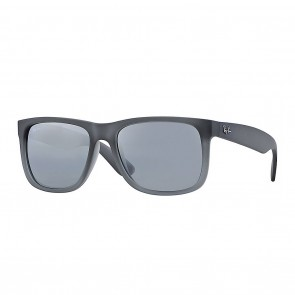 Ray-Ban RB4165 JUSTIN 55mm Grey Silver Gradient Mirror Sunglasses