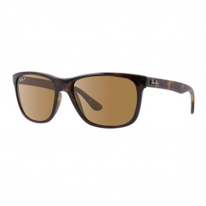 Rayban RB4181 57mm Tortoise Polarized Brown Classic G-15 Sunglasses