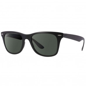 Ray-Ban RB4195 WAYFARER LITEFORCE Sunglasses - Black Green Classic G-15 Polarized