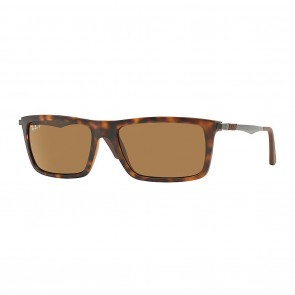 Rayban RB4214 INJECTED MAN 59mm Tortoise Polarized Brown Classic B-15 Sunglasses