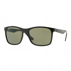 Ray-Ban RB4232 57mm Sunglasses in Black w/ Polarized Green