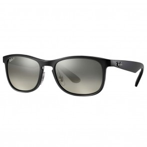 Ray-Ban RB4263 CHROMANCE 55mm Black Polarized Silver Mirror Chromance Sunglasses