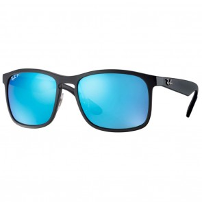 Ray-Ban RB4264 CHROMANCE 58mm Black Polarized Blue Mirror Chromance Sunglasses