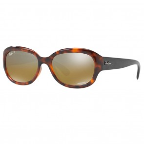 Ray-Ban RB4282 CHROMANCE 55mm Red Havana Brown Mirror Chromance Polarized Sunglasses