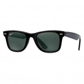 Ray-Ban RB4340 WAYFARER EASE 50mm Black Green Classic G-15 Polarized Sunglasses
