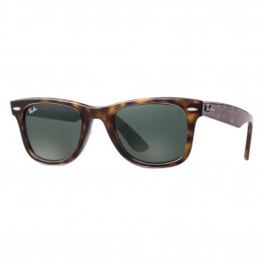 Ray-Ban RB4340 WAYFARER EASE 50mm Tortoise Green Classic G-15 Sunglasses