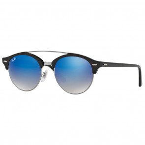 Ray-Ban RB4346 CLUBROUND 51mm Sunglasses - Black Blue Gradient Flash