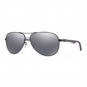 Ray-Ban RB8313 58mm Sunglasses in Black w/ Polarized Grey Mirror