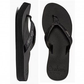 Reef STAR CUSHION Black Ladies Sandals