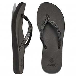 Reef Ginger Womens Sandals - Black / Black