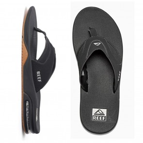 Reef Fanning Mens Sandals - Black / Silver