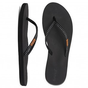 Reef Slim Ginger Stud Womens Sandals - Black
