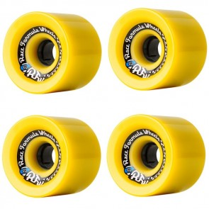 Sector 9 Race Formula 70mm (Off Set) Yellow Longboard Wheels - Durometer 78a